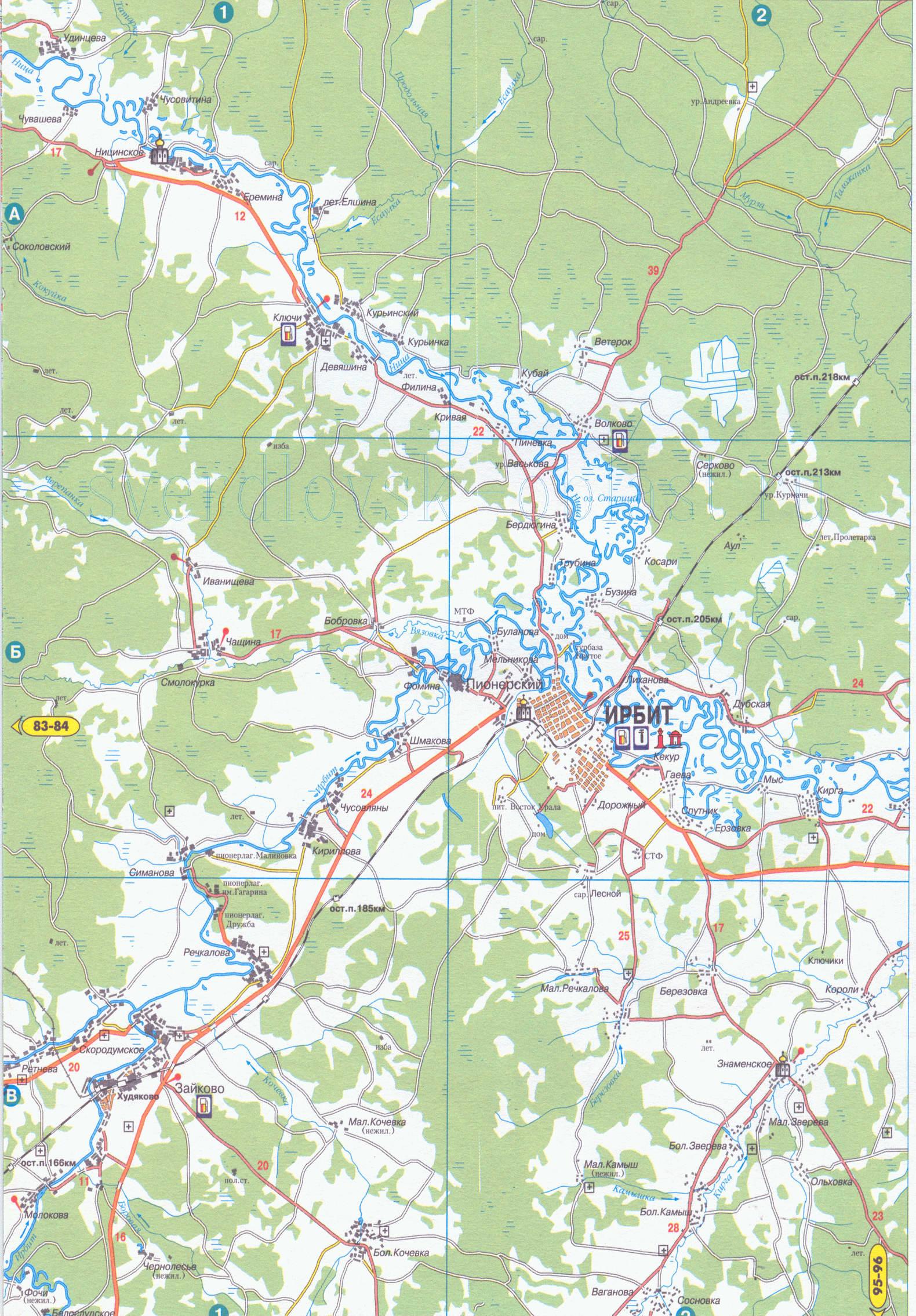 Спутниковая карта Ирбита Фотографии улиц и домов