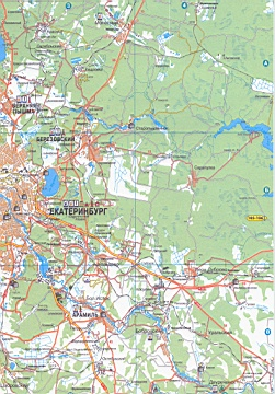 Карта Таборинского Свердловской Области