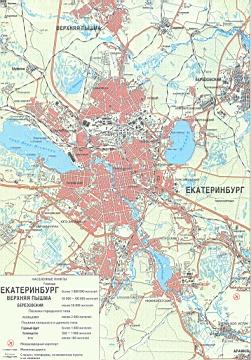 Карта окрестностей екатеринбурга