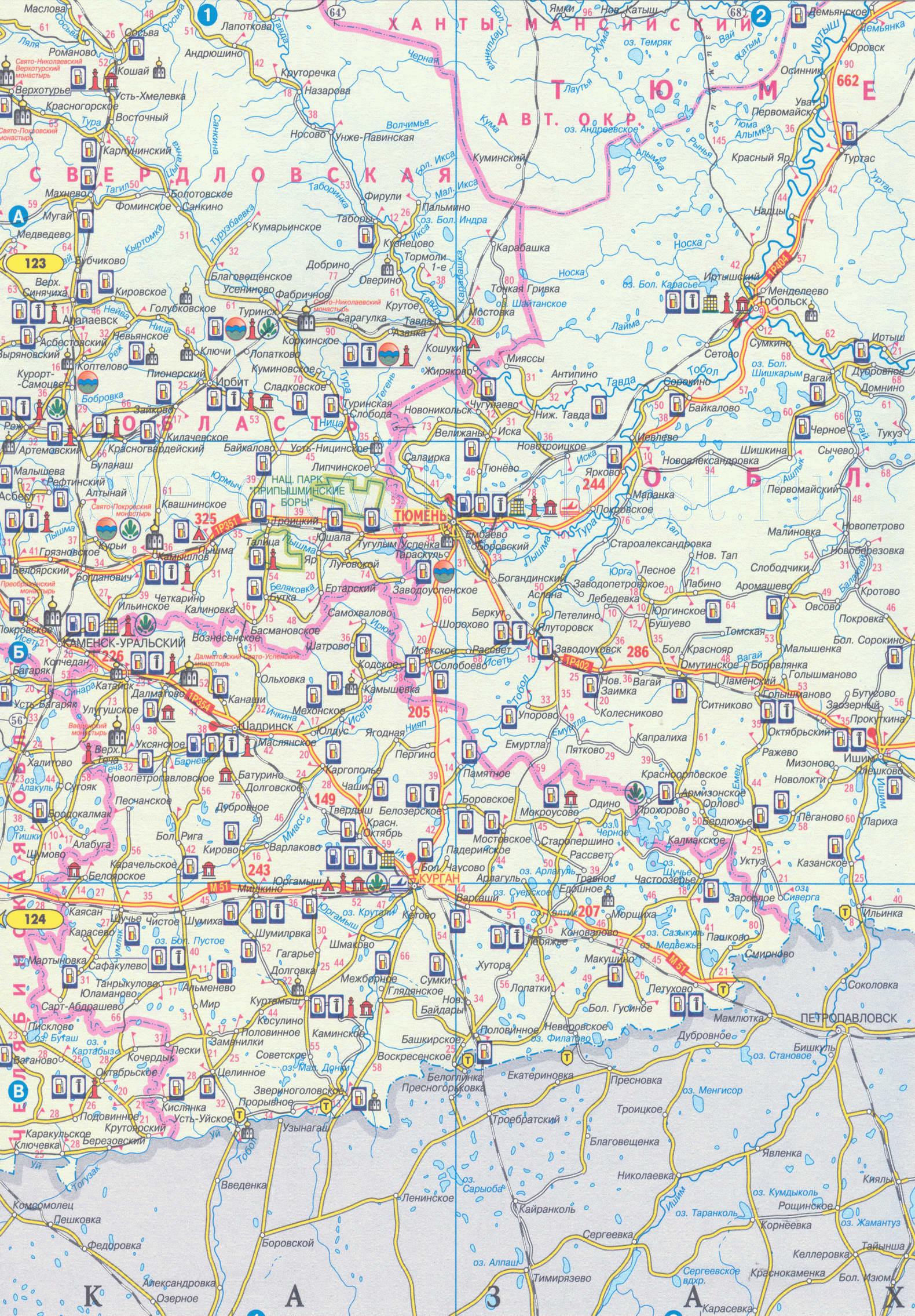 Карта Ирбита со спутника от Яндекса